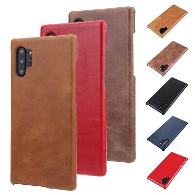 For Samsung Galaxy Note 10 Plus Skin Genuine Leather Phone Case Shockproof Cover