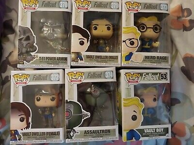 Fallout series complete nerd dweller 370 to 375 new unopened funko pop