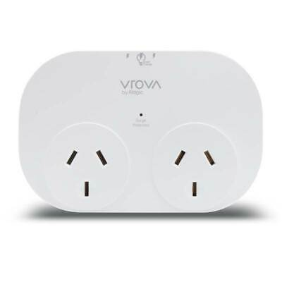 Alogic VROVA Dual Outlet Surge & Overload Double Adapter with 2x USB Ports