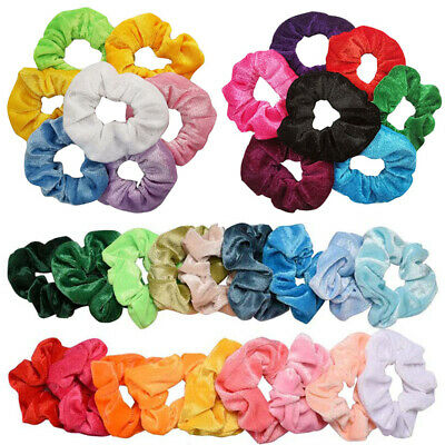 20pcs Velvet Scrunchies Set Women Elastic Hair Bands Ponytail Holder Hair Ropes