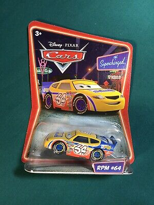 New Disney Pixar Cars RPM #64 Supercharged Die Cast Toy Car From Mattel