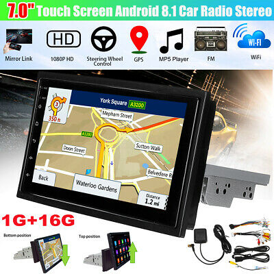 7'' 1DIN Touch Android 8.1 Car Radio Stereo bluetooth WIFI GPS MP5 Player+Camera
