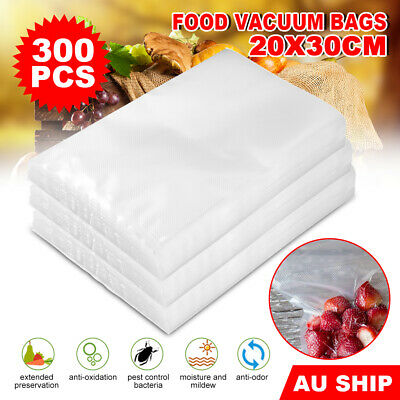 300pc Vacuum Sealer Bags Precut Food Saver Heat Cool Cryovac Storage Transparent