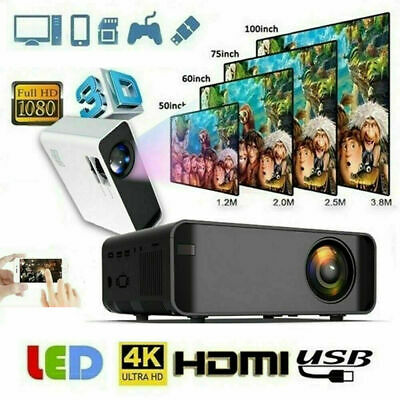 Android 4K 3D HD 1080P 12000Lumen LED Projector WIFI BT Home Theater Cinema HDMI