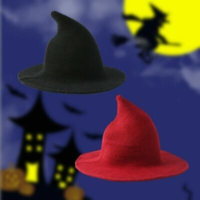NEW Modern Witch Hat Made From High Quality Sheep Wool Halloween Witch Hat RK