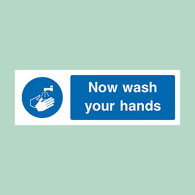 Wash Your Hands Sign OR Sticker - Food Hygiene - All Sizes (FP47)