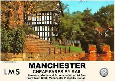 Vintage Style Railway Poster Manchester Tram A4//A3//A2 Print