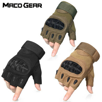 Touch Screen Men's Tactical Hard Knuckle Full Finger Gloves Army Military Combat