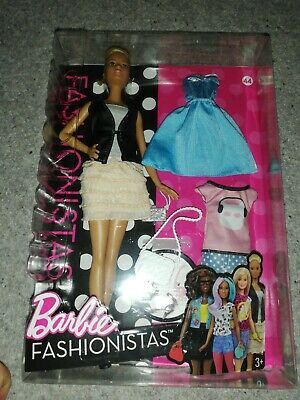 Barbie Fashionistas Doll Leather & Ruffles No 44 Brand New Fast Postage