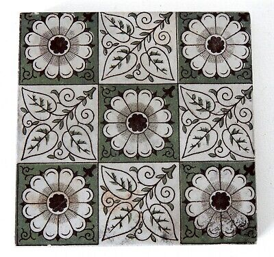 "Antique Victorian Minton Hollins  & Co 6"" x 6"" Tile Stoke on Trent #5"