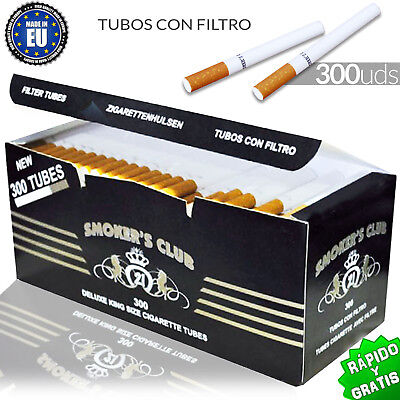 Tubes Empty Quality Premium with Filter for Filling 300 Cigarettes Tobacco