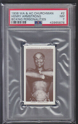 Churchman - Boxing Personalities 1938 - Henry Armstrong - PSA 7 NM