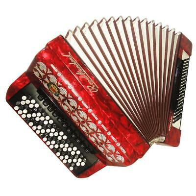 5 Row Royal Standard Romance, 120 Bass, Great German Button Accordion Bayan 1103