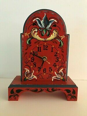 Hella Pope  European Decorative Tole Painting Clock