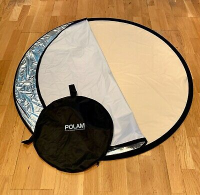 Polam Photography Studio Popup Backdrop Light Screen Round Collapsible with bag