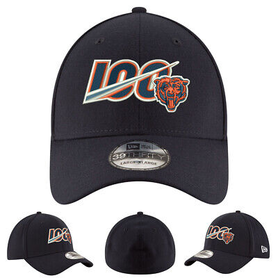 NEW 2019 Chicago Bears New Era Hat Cap 39THIRT Stretch Fit 100th Season Limited