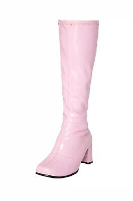 New Women's Fancy Dress Sexy GoGo Knee High Boots Cool 60's 70s Party Size 9