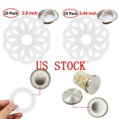 US 10 Silicone Sealing Rings Gaskets for Leak Proof Mason Jar Fermenting Lid Cap