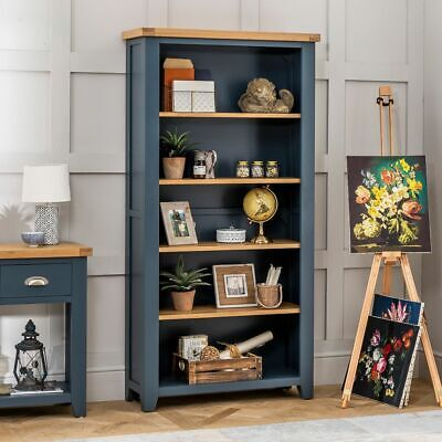 Westbury Blue Painted Large Tall Bookcase - BRAND NEW! - BP34