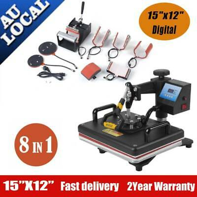 8 in1 Digital Heat Press Machine Transfer Sublimation Swing-away T-shirt Cap rX