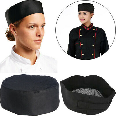 10X Breathable Mesh Skull Cap Professional Catering Chefs Hat Adjustable Strap