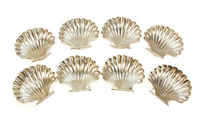 8 Cartier Sterling Silver Sea Shell Nut Dishes, #83