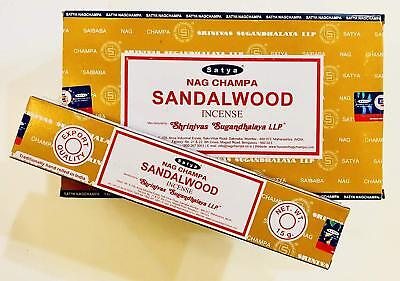 Genuine Satya Sai Baba Nag Champa Sandalwood Incense Sticks-15g/30g/45g/90g/135g