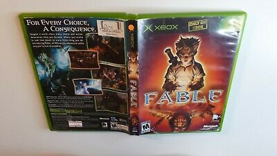 Fable Original Xbox Microsoft - VG - FAST AND FREE SHIPPING!