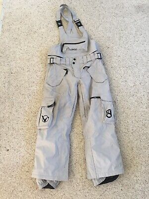 Vertika Signature Bib Ski Snowboard Pants Size Small Gray Insulated Winter Used