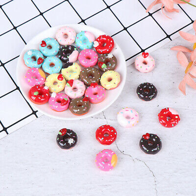 10Pcs 1:12 Dollhouse miniature candy donut bread doll house kitchen deB tx