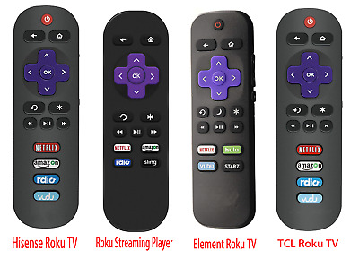 Replace Remote for Hisense Roku,TCL Roku, Roku Streaming Player, Element Roku TV