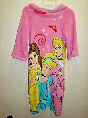 Disney Princess Pink Fleece Bath Robe Girls One Size 4 - 10