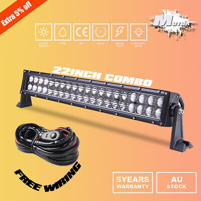"22inch Combo LED Light Bar Spot Flood Driving Offroad 4WD 20/23"" + Wiring Kit"
