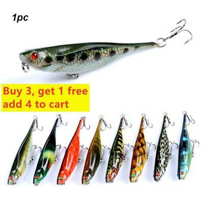 Diving Crankbait Fish Popper Bass Tackle Minnow Hard Plastic Bait Fishing Lures