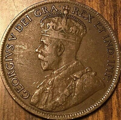 1919 Canada Large Cent Penny 1 Cent