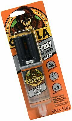 Gorilla 2 Part Epoxy, 5 Minute Set, .85 ounce Syringe, Clear 1 - Pack