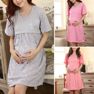 Ladies Maternity dress Kleid Fashion Maternity dress Pregnant Clothing