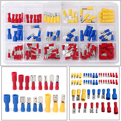Sale 120X Assorted Insulated Electrical Wire Terminal Crimp Connector Spade Kits