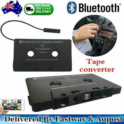 Bluetooth CAR AUDIO TAPE CASSETTE ADAPTER RECEIVER FOR IPHONE IPOD CD RADIO MP3