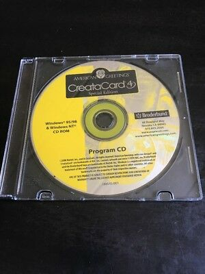 American Greetings CreataCard 4, Special Edition Program CD ROM Windows 95/98