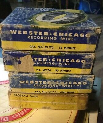 Recording Wire Reel Spool Webster Chicago Qty 4