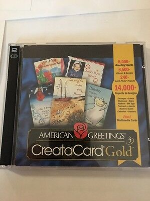 American Greetings Creatacard Gold Version 3 [CD-ROM] Windows 95/98 VINTAGE RARE