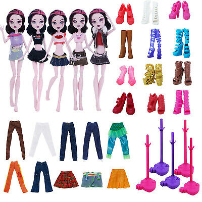 "Outfits Daily Shoes Bed Clothes For Monster High 10"" Doll Furniture Accessories"