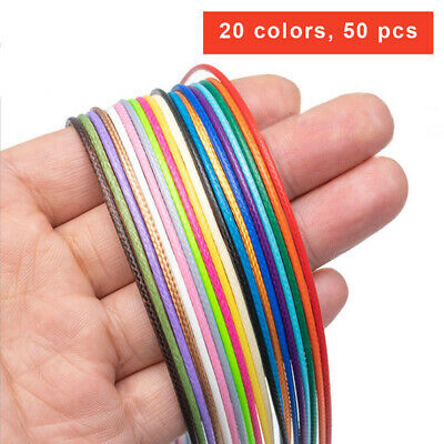 Necklace Cord with Clasp Waxed Line String Assorted Colors for Jewelry Making