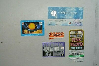 Antiguo Vintage 5 Ticket Concierto Pink Floyd