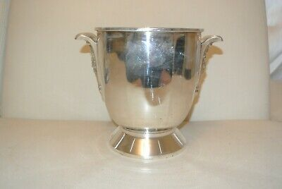 Antique Bucket a Champagne Metal Silver Poinconé Art Deco