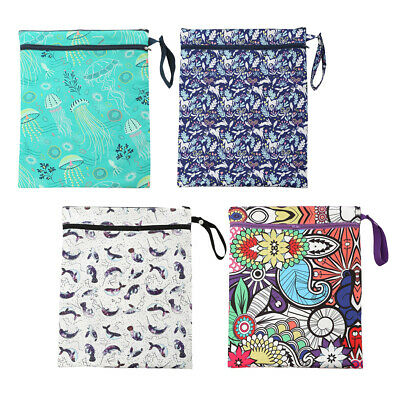 MagiDeal Waterproof Reusable Zip Wet Dry Bag Infant Cloth Diaper Nappy Pouch