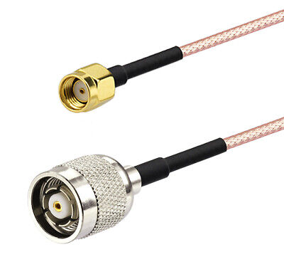 RP-SMA Male to RP-TNC Male RG316 Coaxial Pigtail Cable 20cm for Wireless Antenna