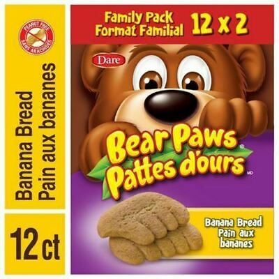 Dare, Bear Paws Banana Bread, 480g/17oz.,Family Pack, {Imported from Canada}