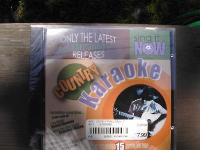 Sing It Now Country Hits Fall 2004 Karaoke Cdg CD NEW